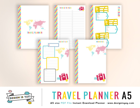Travel Planner A5 PDF