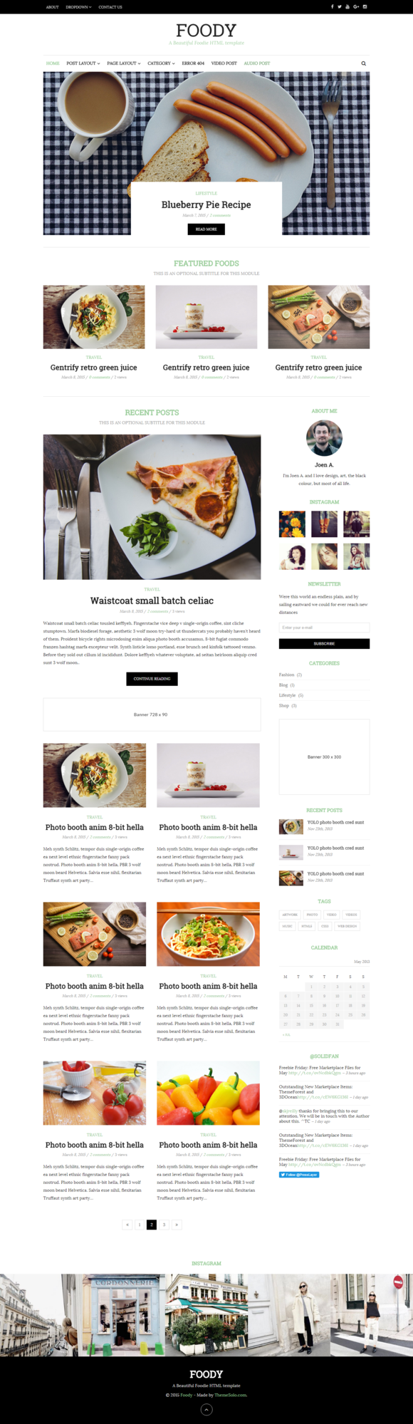 Foody HTML Blog Template