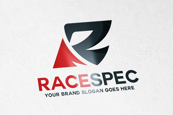 Race Letter R Logo