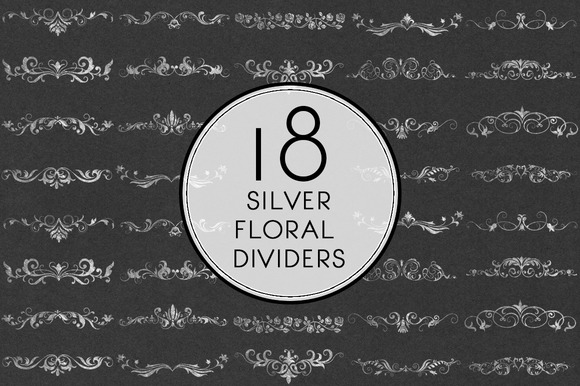 Silver Floral Dividers