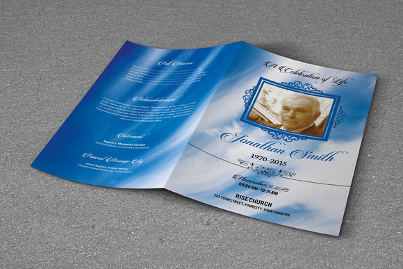 Funeral Program Template T331