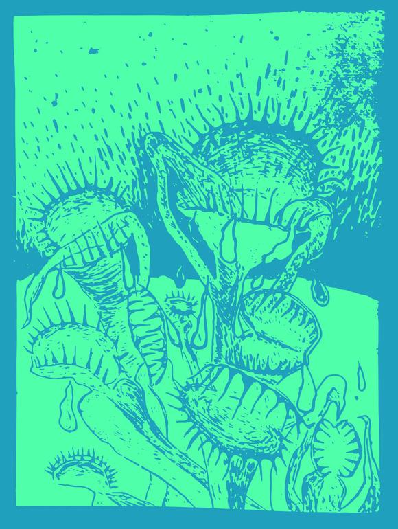 Venus Flytrap Linocut