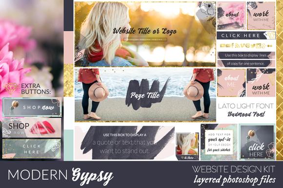 Modern Gypsy Website Blog Kit