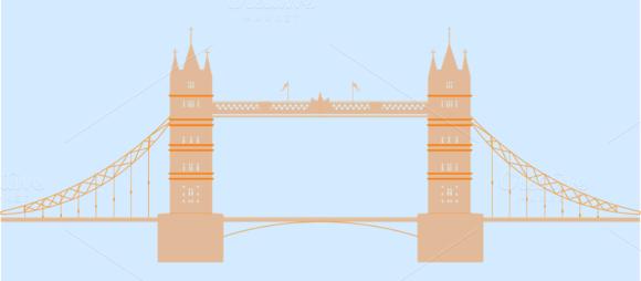 London England Tower Bridge Vector