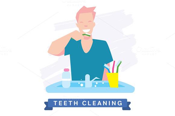 Cleaning Teeth Beautiful Smile