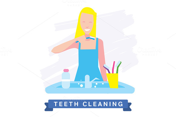 Cleaning Teeth Beautiful Smile