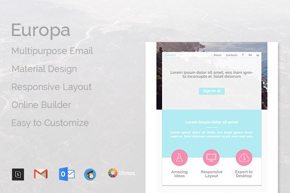 Europa Multipurpose Email Template
