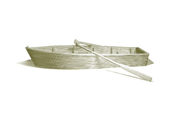 Engraved Row Boat