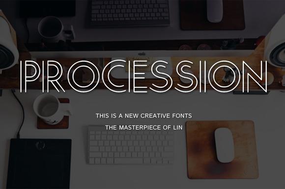 Procession-Creative Font