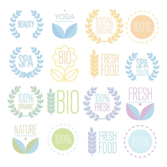 Organic Bio Ecology Natural Logos