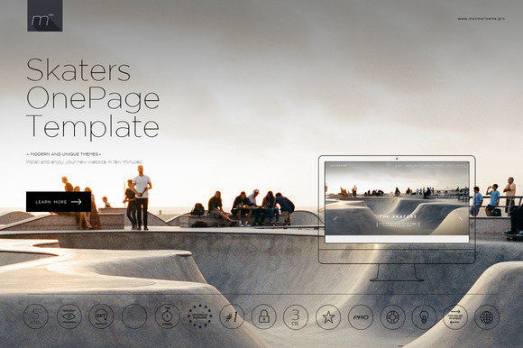 Skaters One Page Template HTML