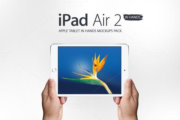 IPad Air 2 In Hands Mockups