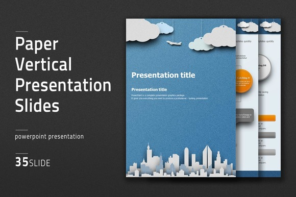 Paper Vertical Presentation Slides