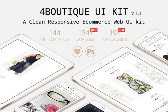 4Boutique Ecommerce UI KIT Bundle