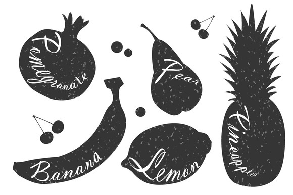 Lettering On Fruits