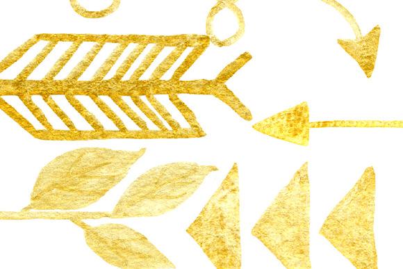 Hand Drawn Gold Arrows