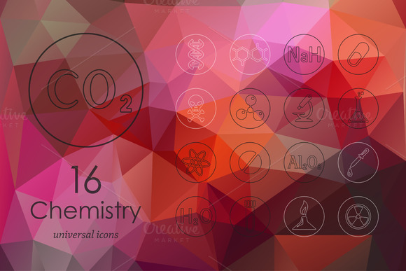 Chemistry Line Icons