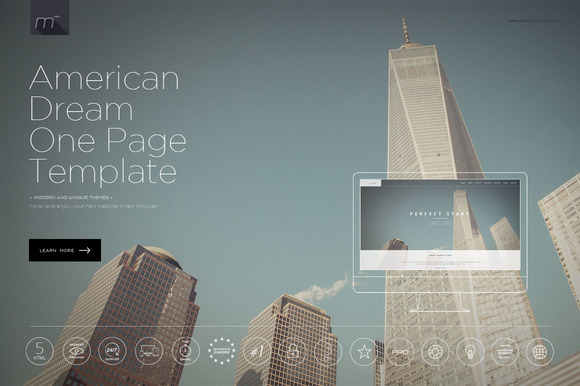American Dream One Page Template