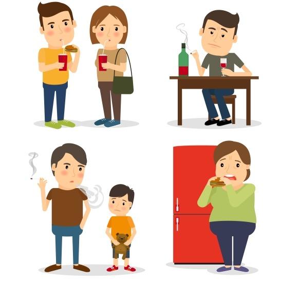 Bad Habits Drunkenness Overeating