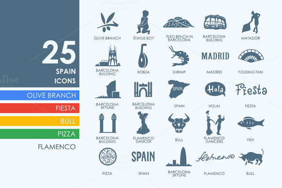 25 Spain Icons