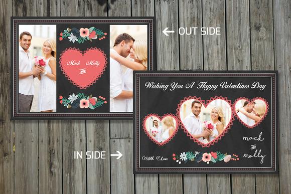 Valentine Day Photo Card-V173