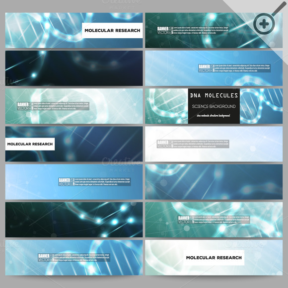 §®odern Science Vector Banners