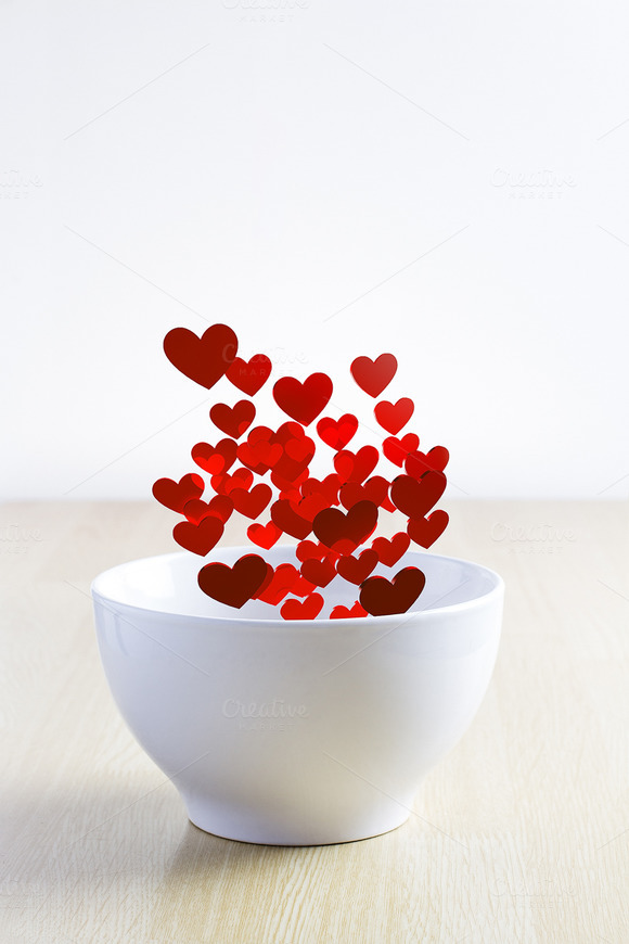 Valentine Hearts In A Cup
