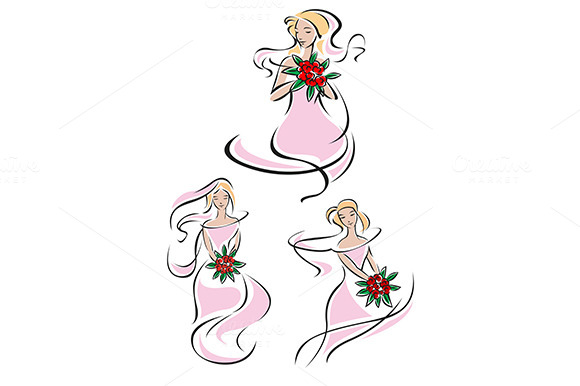 Pretty Pink Feminine Sketches Of A B