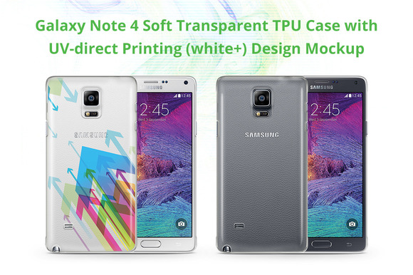 Galaxy Note 4 TPU Case UV Print Mock