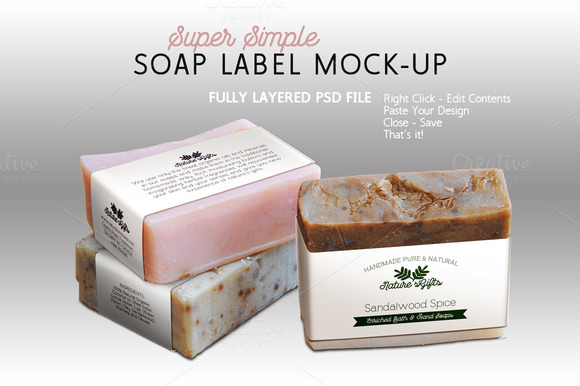 Soap Label Mock-up Horizontal