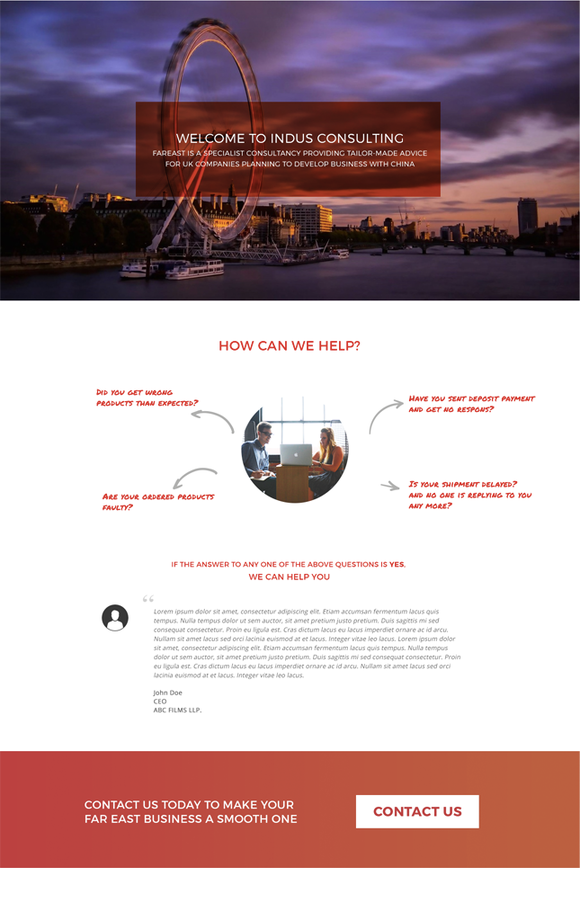 Business Consultancy Landing Page