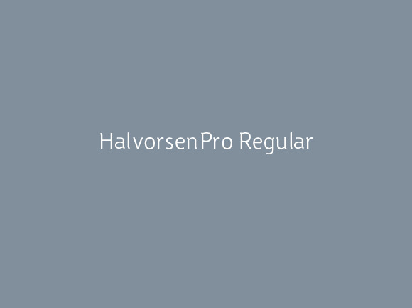 HalvorsenPro Regular