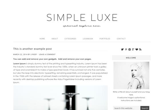 Wordpress Theme Simple Lux