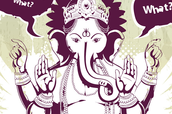 Grunge Ganesha Illustration