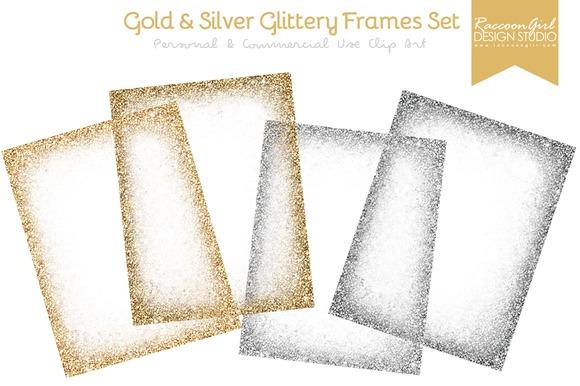 Gold Silver Glittery Frames