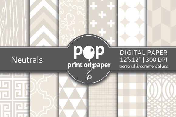 Neutrals Digital Paper