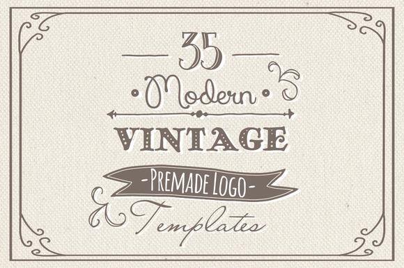 35 Hand Drawn Logos Bundle Vector