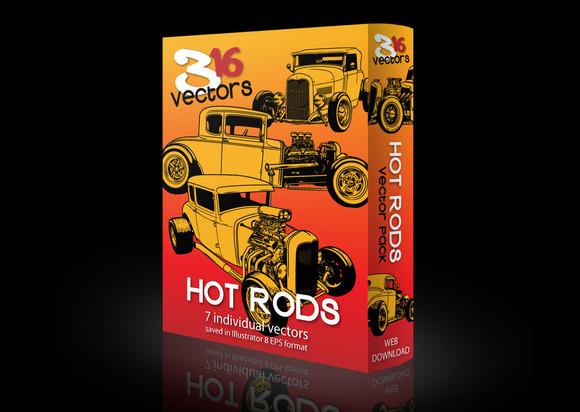 316 Vectors HOT RODS