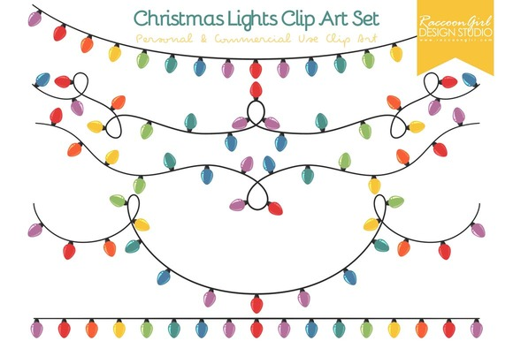 Christmas Lights Clip Art Set