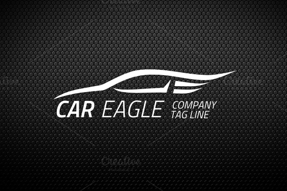 Car Eagle Logo Template
