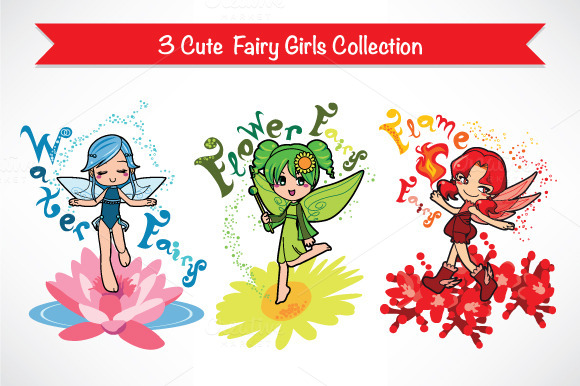 Cute Fairy Girls Collection 1