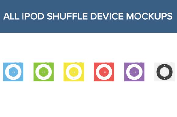 IPOD Shuffle Device Mockups