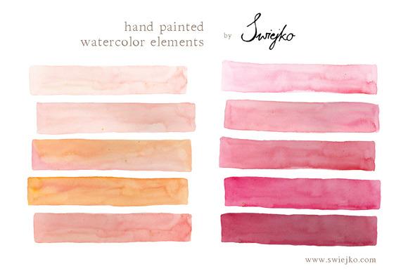 Watercolor Elements Stripes