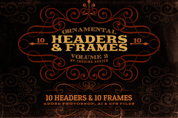 Ornamental Headers Frames V.2