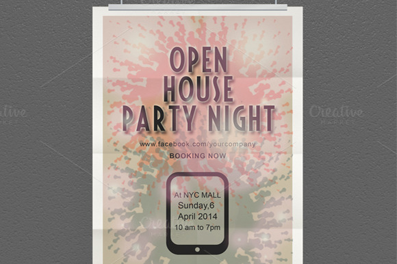 Abstract Party Flyer Design
