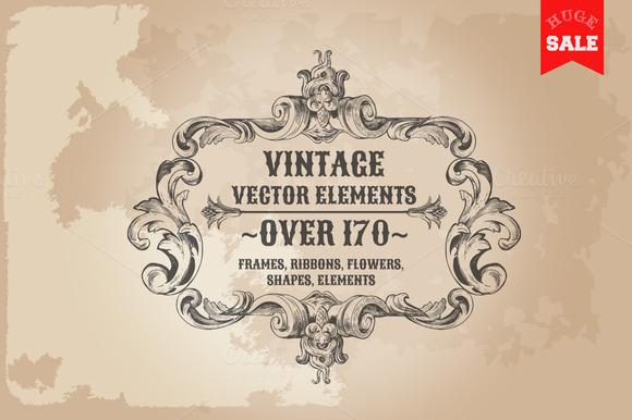 171 Vintage Frames Banners Labels