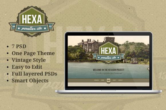 Hexa Vintage Portfolio Template