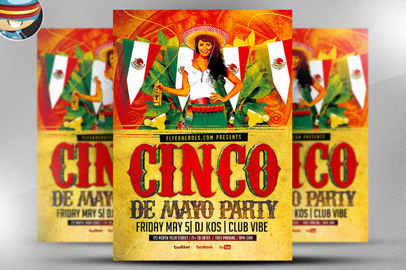 Cinco De Mayo Flyer Template 3
