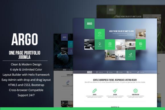Argo OnePage Metro UI Template
