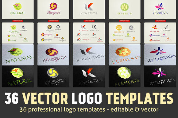 36 Vector Logo Templates